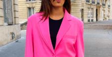 Розовый пиджак – модный осенний тренд